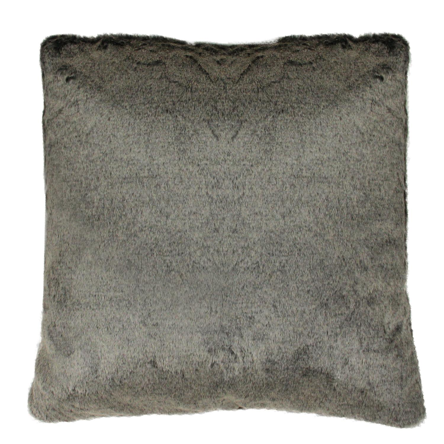 18 Quot Brown Faux Fur Plush Throw Pillow