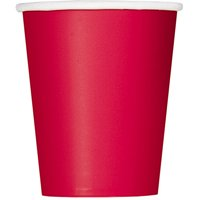 Paper Cups, 9 oz, Red, 14ct