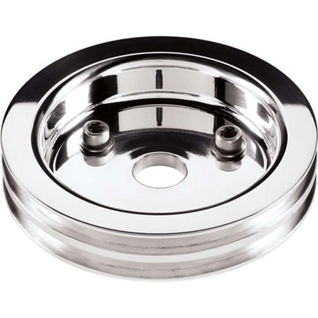 - BILLET SPECIALTIES 81220 Crankshaft Pulleys Polished SBC 2 Groove Lower Pulley