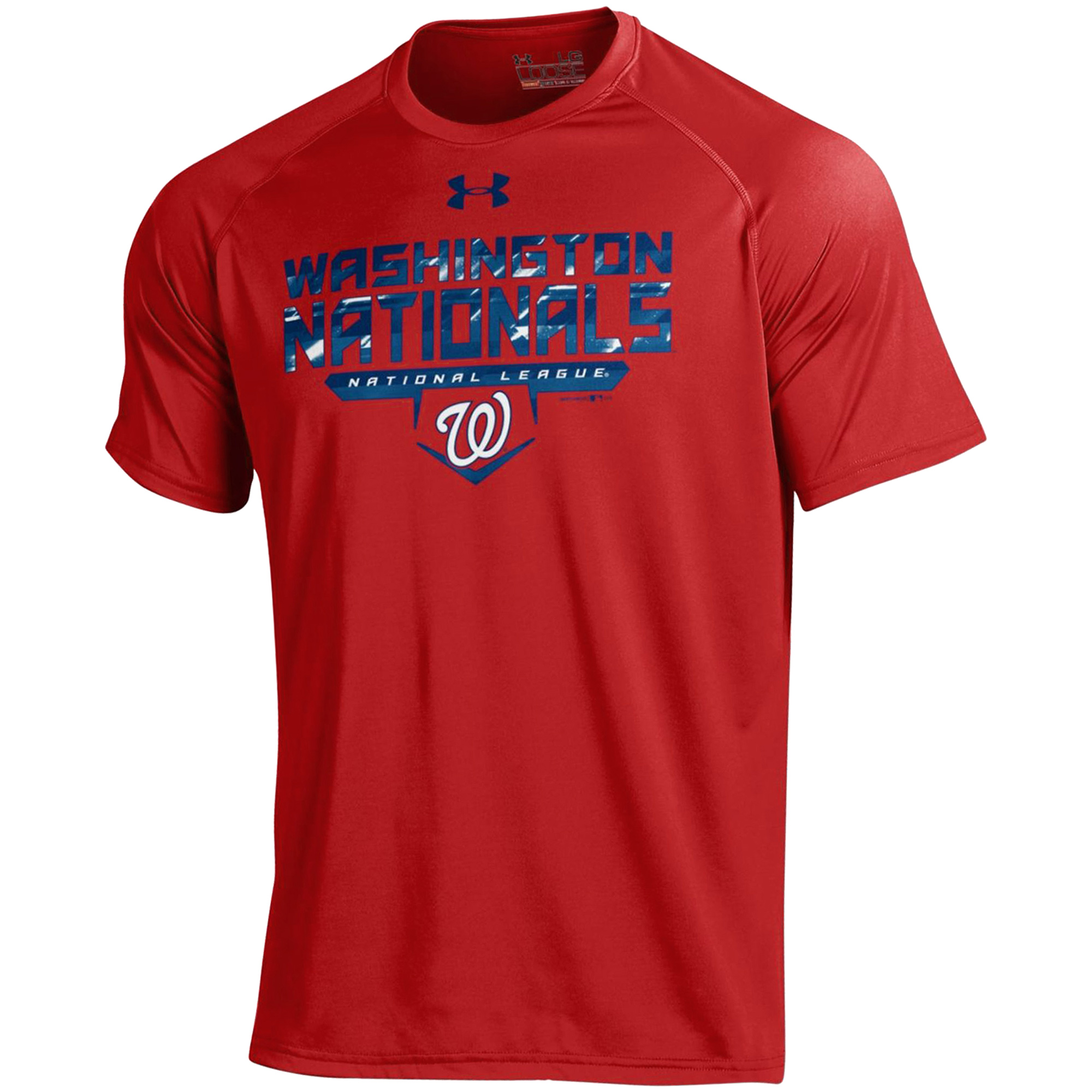 Washington Nationals Under Armour Tech Performance T-Shirt - Red