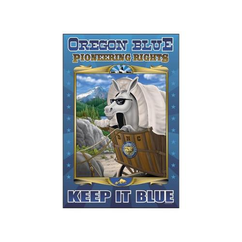 Oregon Blue - Pioneering Rights Print (Canvas 24x36)