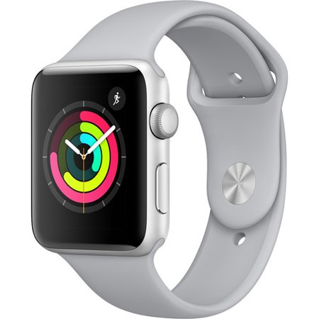 Refurbished Apple Watch Gen 3 Series 3 42Mm Silver Aluminum   Fog Sport Band Mql02ll A