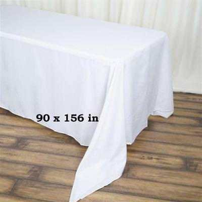 Outstanding 90X156 White Polyester Banquet Linen Wedding Party Download Free Architecture Designs Xaembritishbridgeorg