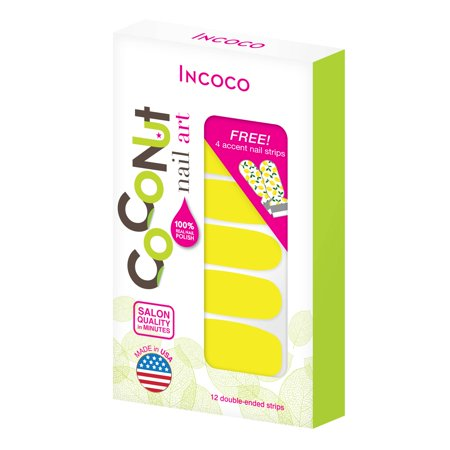 Coconut Nail Art by Incoco Nail Polish Strips, Lemon Drop