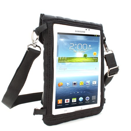 USA Gear Kid-Friendly Tablet Case with Touch Capacitive Screen Protector, Headrest Mount Strap & Durable Neoprene - Works with many 7