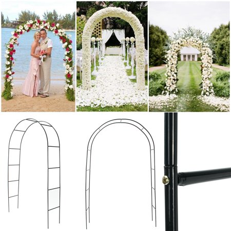 Aimeeli 95'' Arch Way Door Wedding Party Bridal Prom Garden Floral Decor Iron - Bridal Arch
