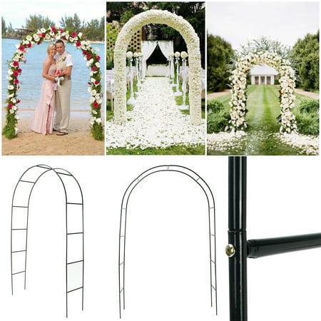 Aimeeli 95'' Arch Way Door Wedding Party Bridal Prom Garden Floral Decor Iron Assemble](Prom Decorations Cheap)