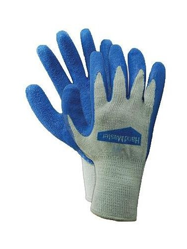 Work Gloves, Latex Coated Palm, Blue, M, Magid Glove, 306TM