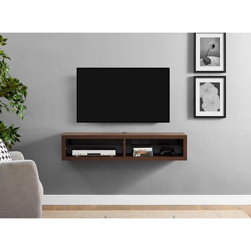 martin furniture 48 in shallow wall mounted tv shelf walmart com rh walmart com wall mounted tv shelves glass wall mounted tv shelves glass