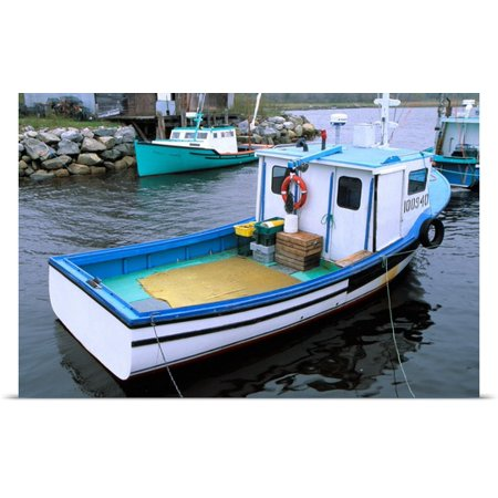 Great BIG Canvas | Rolled Julie Eggers Poster Print entitled Canada, Nova Scotia. Lobster boats