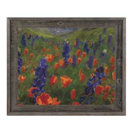 Click Wall Art Alps Flowers Framed Painting Print