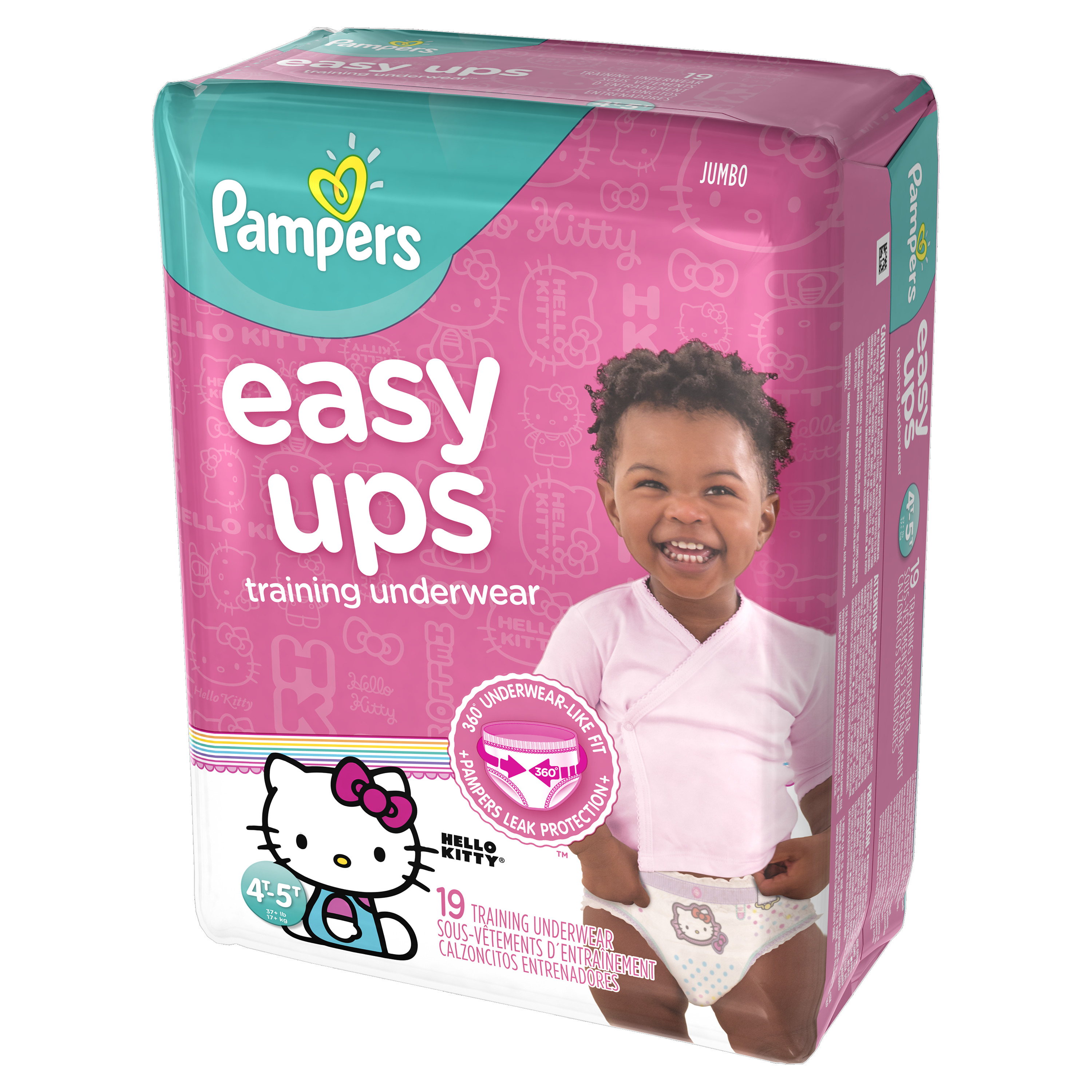 Pampers Easy Ups Training Underwear Girls Size 6 4T-5T 19 Count