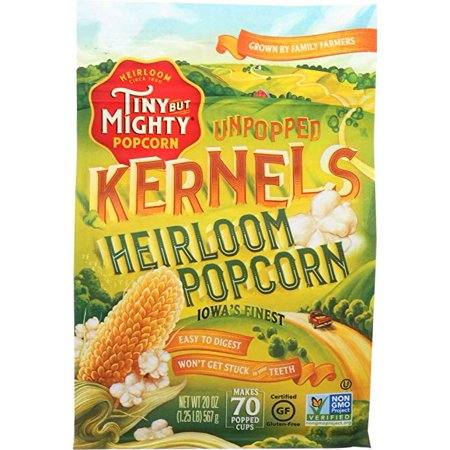 Tiny But Mighty Heirloom Popcorn, Healthy and Delicious, Unpopped Kernels, 1.25lb Bag, Pack of 8 - Healthy Popcorn Balls Halloween