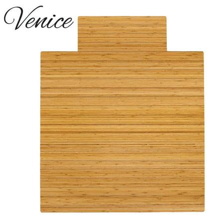 Venice Natural Bamboo Roll Up Chairmat Floor Mat 36 X 48 W