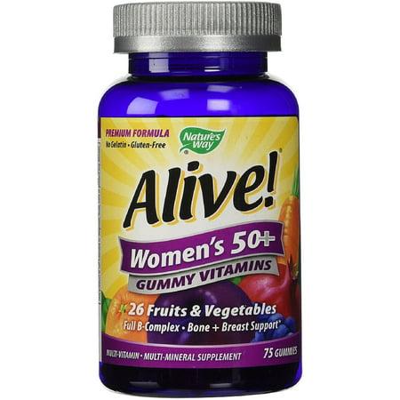 Nature's Way Vivant! 50 Gummy multivitamines 75 ch des femmes