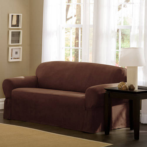 Mainstays Faux Suede Loveseat Slipcover by Generic