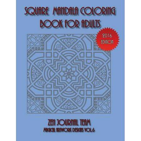 Square Mandala Coloring Book for Adults - Mandala Coloring Sheet