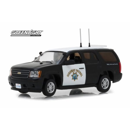 2012 Chevy Tahoe, Black with White - Greenlight 86098 - 1/43 scale Diecast Model Toy (Best Chevy Tahoe Model)