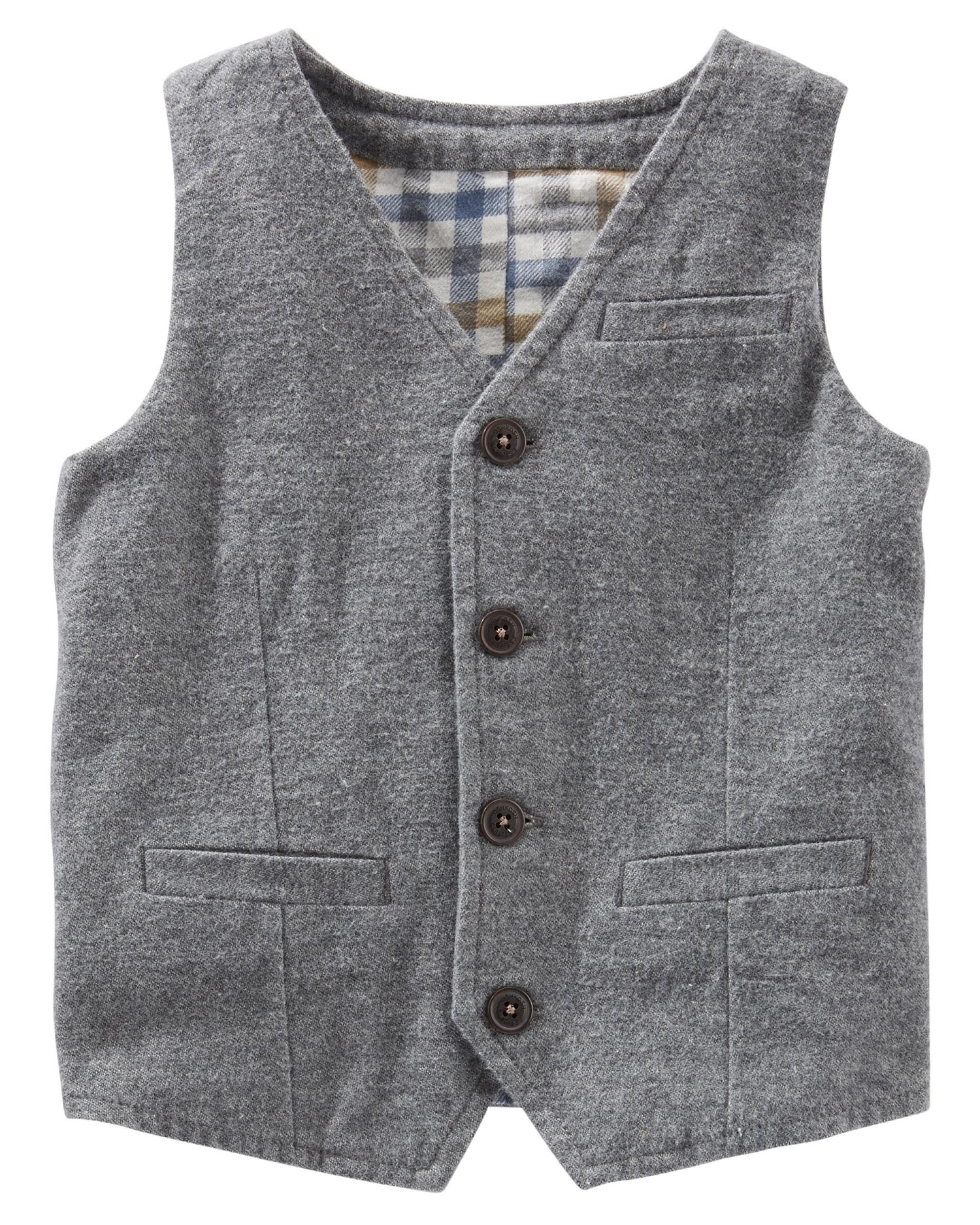 OshKosh B'gosh Little Boys' Suit Vest, Gray, 4-Toddler