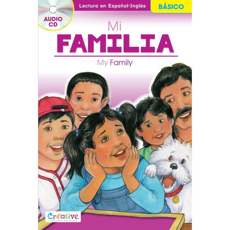 Creative Teaching Materials Spanish-English Book with CD, My Family