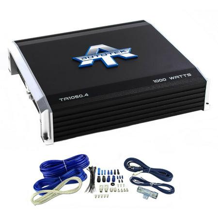 Autotek TA1050.4 4 Channel 1000 Watt Amp Car Audio Power ... on 1000 watt amplifier wiring kit, 1000 watt stereo amp, 1000 watt sub, 1000 watt monoblock amplifier, 1000 watt amplifier for car, kit car wiring kit, 1000 watt speakers, 1000 watt car amp, volkswagen complete wiring kit, 600 watt amp install kit, 1000 watt mono amp, 1000 watt stereo amplifier,