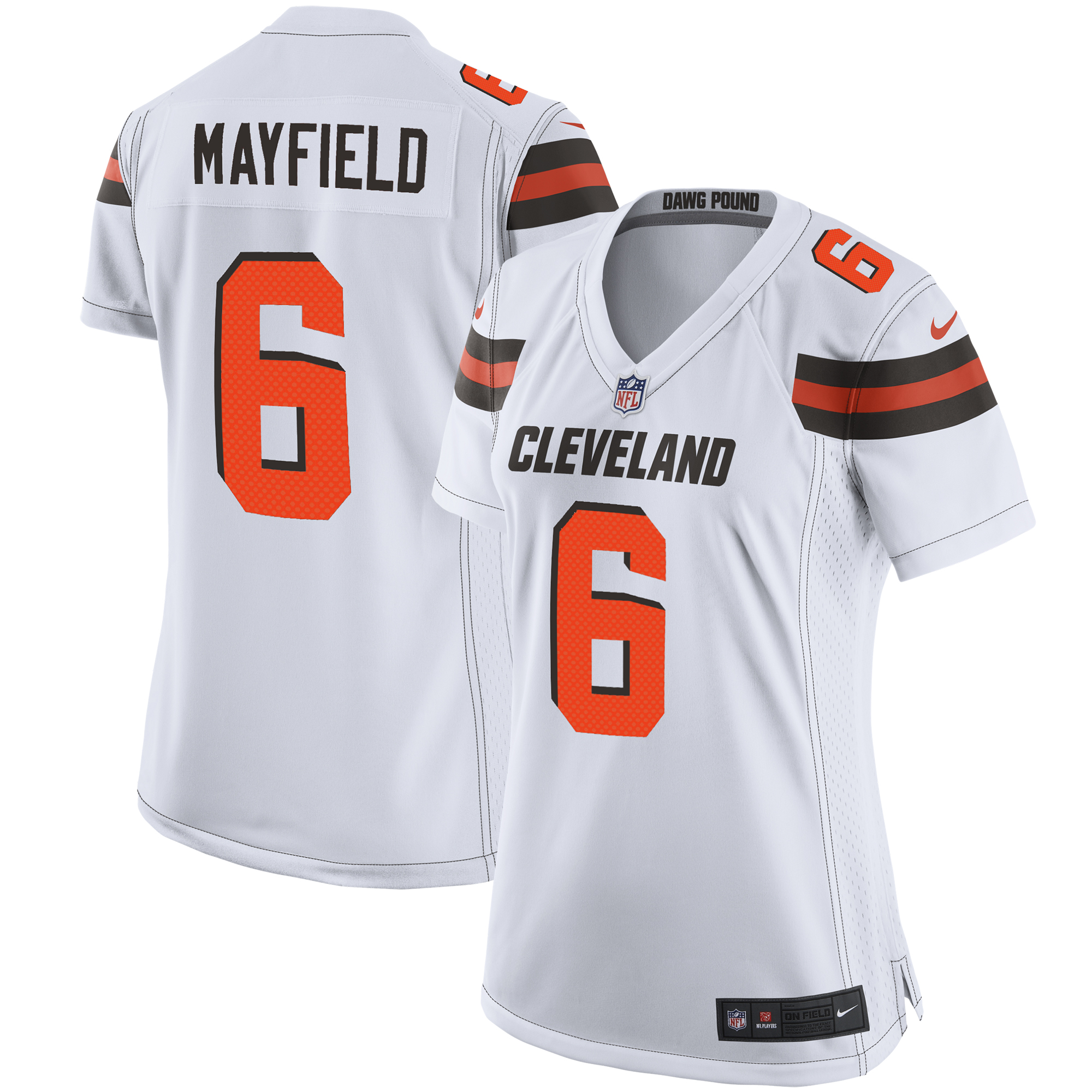 Baker Mayfield Cleveland Browns Nike Women's Player Game Jersey - White