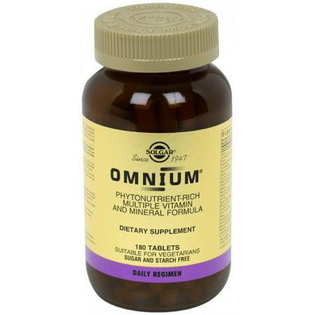 Solgar Vitamin and Herb Solgar Omnium Multiple Vitamin And Mineral Formula, Tablets, 180 ea - Formulas Single Herb