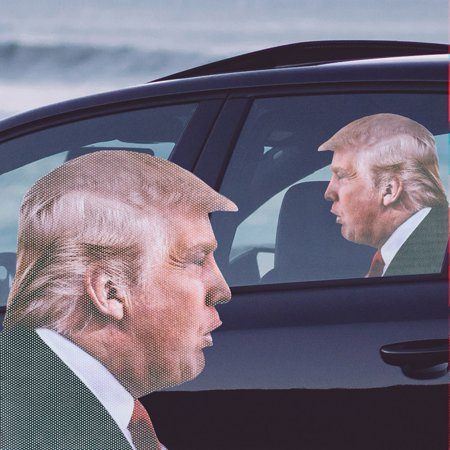 Ride With Donald Trump   Funny Car Window Decal Sticker