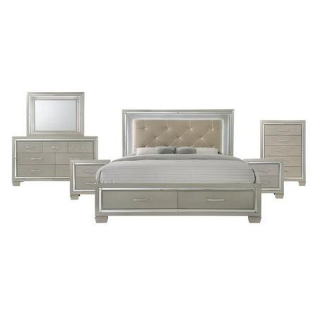 Picket House Furnishings Glamour 6 Piece King Storage Bedroom Set