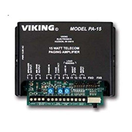 VIKING ELECTRONICS 15 Watt Paging Amplifier and Loud Ringer / VK-PA-15 / by Viking
