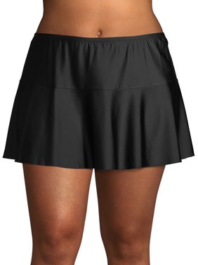 Time and Tru Women's Plus Size Flounce Swimsuit Skirt
