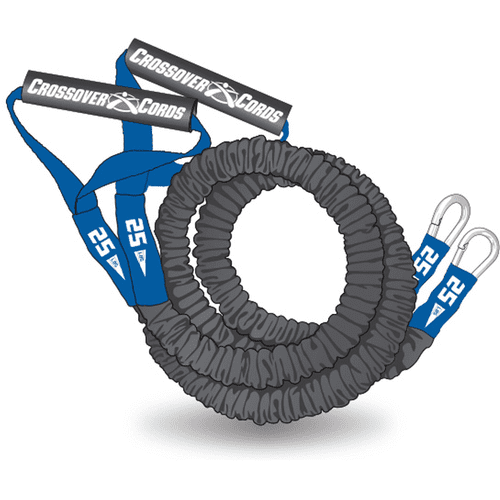 Crossover Symmetry Weight Training Resistance Cords Blue 25lbs Heavy by Crossover Symmetry