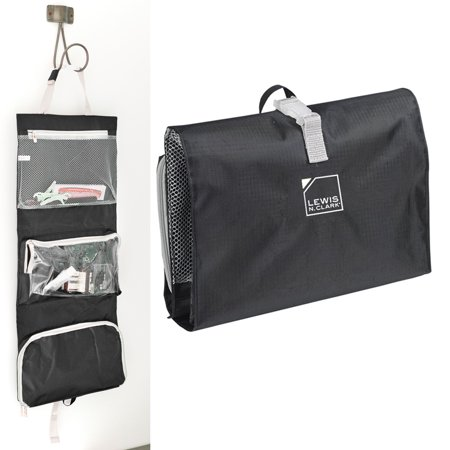 Little Black Travel Case - 1 Hanging Toiletry Travel Organizer Black Kit Bag Cosmetic Carry On Shaving Case