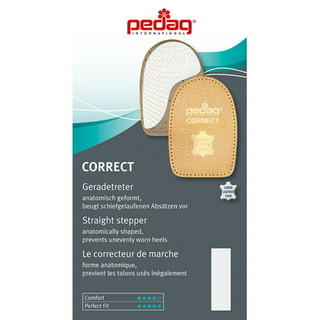 pedag® CORRECT Pronation or Supination Straigtener, Vegetable Tan Natural Leather, Medium 8L - (Best Pedag Insoles)