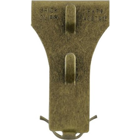 Brick Clip Hooks  Fits Brick 2 1 8   To 2 1 2   In Height  4 Pack   Clips Clip On And Off Brick Easily  By Ltd Commodities