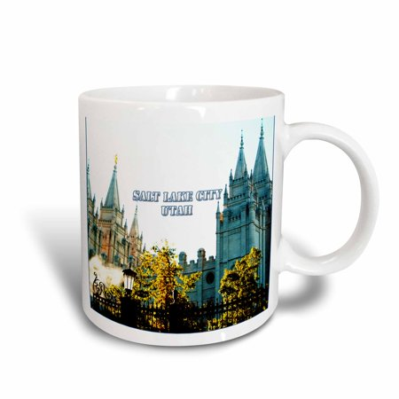 3dRose The Salt Lake City LDS Temple with spires reaching to the sky - Ceramic Mug, (Disney On Ice Salt Lake City Discount Tickets)