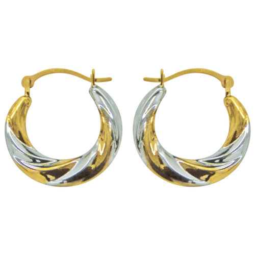 Gold- and Silver-Tone Hoop Earrings