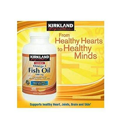 Kirkland Natural Fish Oil Omega 3 Concentrate 1000 Mg  400 Softgels