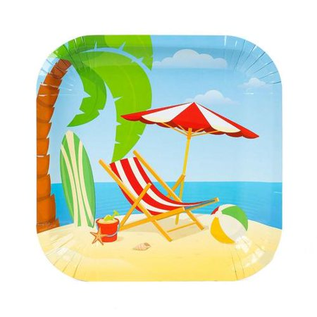 Beach Square Paper Plate 350g 24Pcs - LIVINGbasics™ - image 2 de 2