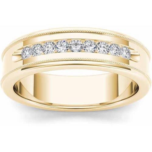 Imperial 1/3 Carat T.W. Diamond Men's 14kt Yellow Gold Wedding Band