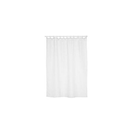 100 Polyester Fabric Shower Curtain Liner Size Extra Long 70 Wide X 84 Long Color White