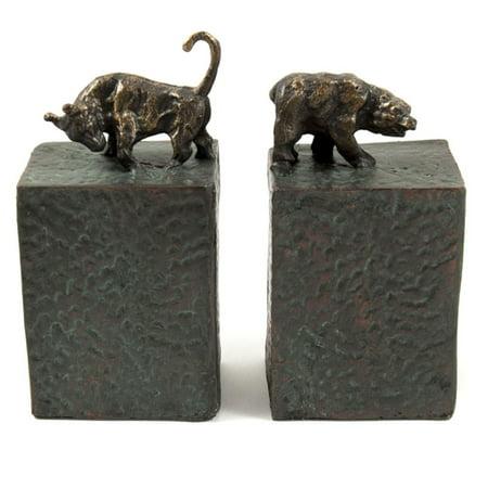 Bey-Berk Metal Bull and Bear Bookends Bull Bear Bookends