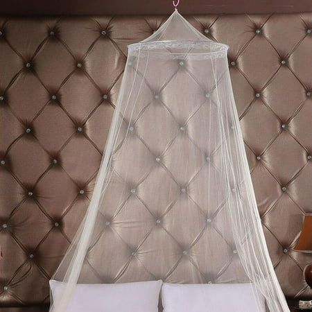 HJY Universal Elegant Round Lace Insect Bed Canopy Netting Curtain Dome Polyester