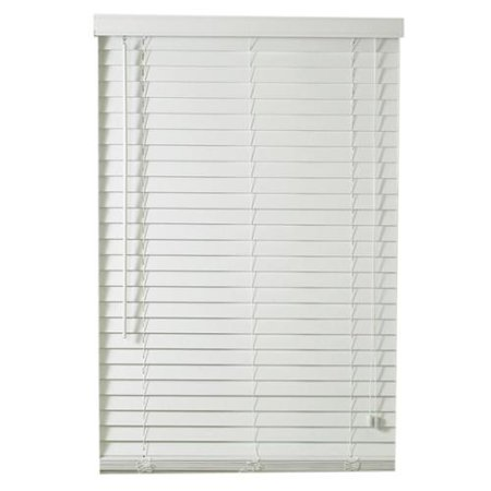 Traditional White Faux Wood Plantation Blinds With 2 Inch