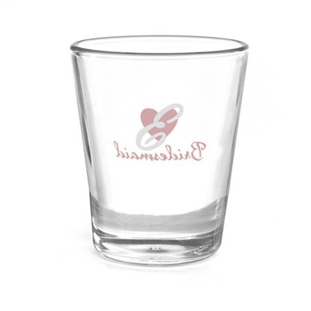 Personalized Shot Glasses Wedding (Heart Wedding Party Shot Glass - Bridesmaid -)