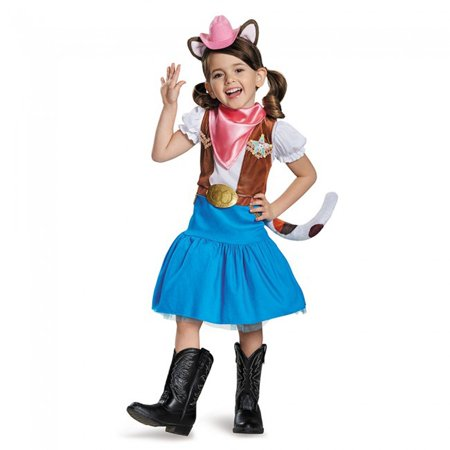 Classic Sheriff Callie Disney Costume, Large/4-6X, Product Includes: Dress, hat & bandana By - Sheriff Callie Lasso