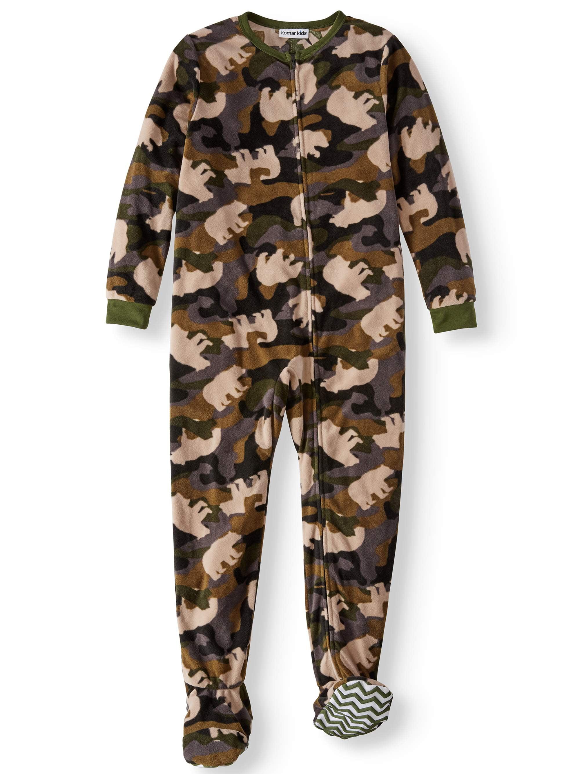 Boys' Bear Camo Footed Pajama Sleeper (Little Boys & Big Boys)