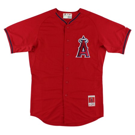 Majestic Mens Anaheim Angels Mlb Mike Trout Batting Practice Jersey Red