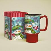 Lang 18 oz. Snowman Follies Travel Mug