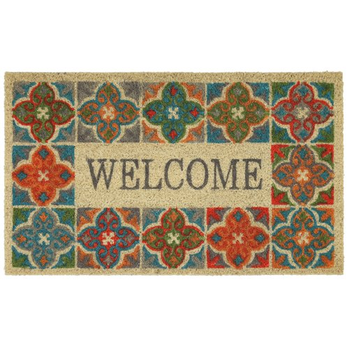 Better Homes and Gardens Global Tile Coir Welcome Doormat